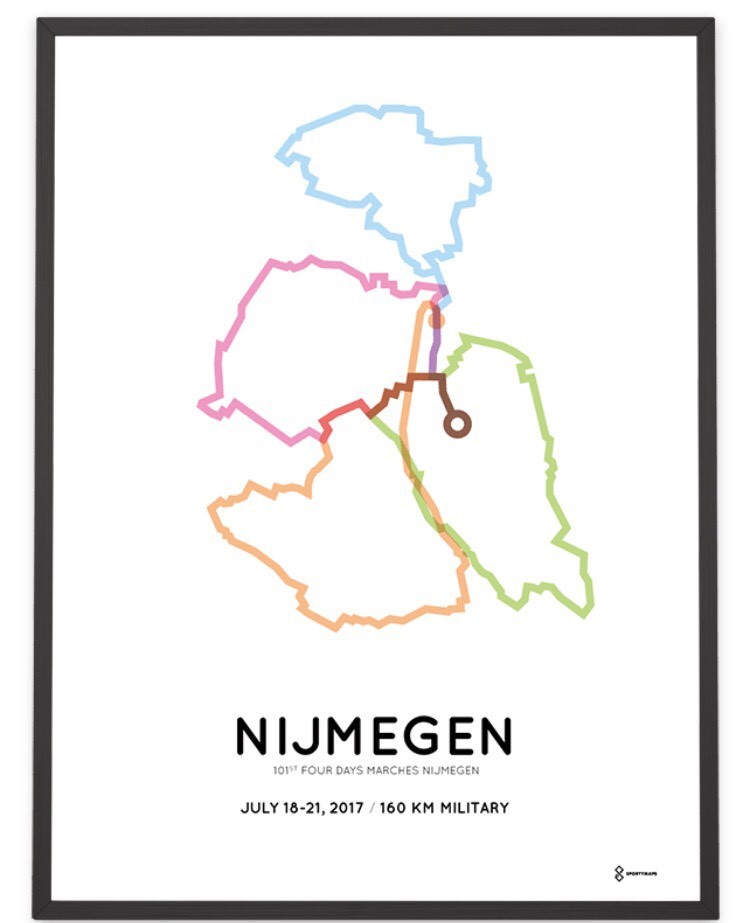 Map of the Nijmegen March trail