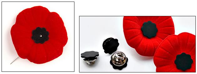 How to wear a Poppy