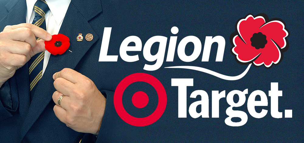 Royal Canadian Legion Members Welcome to Distribute Poppies in Target Canada Stores