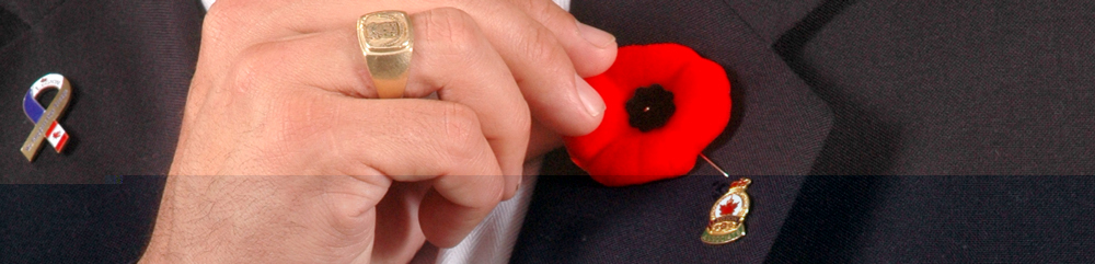 Legion Presents Symbolic First Poppy to Governor General