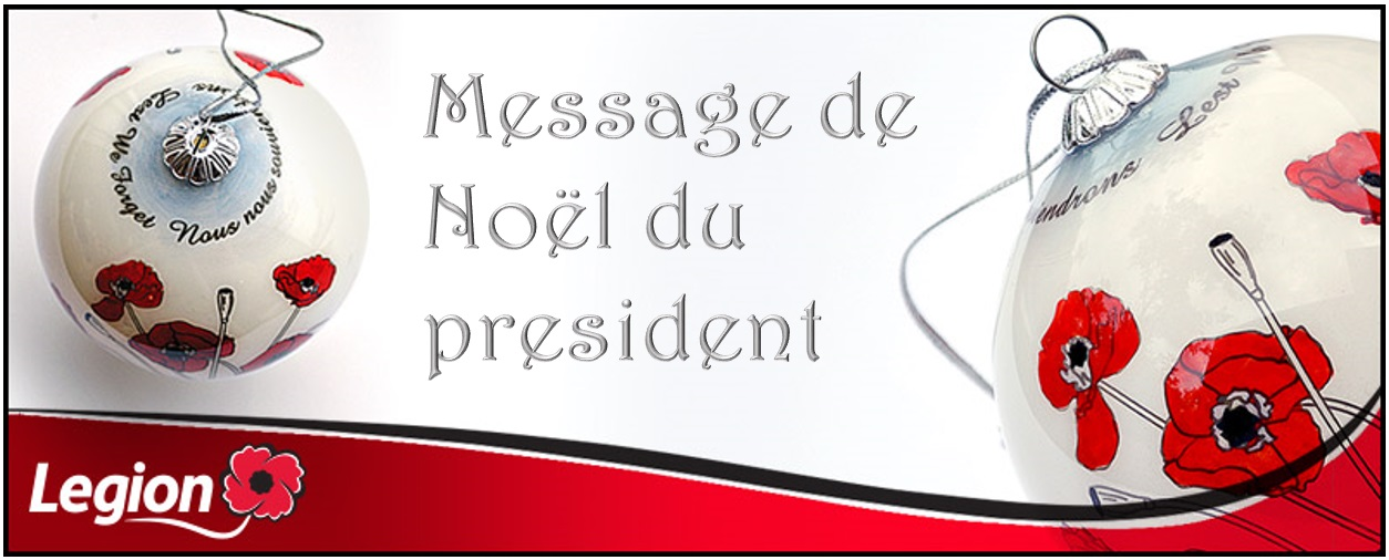 Un message du président national de la Légion à l'occasion de Noël